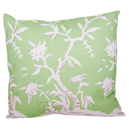 Cliveden 22x22 Pillow, Green