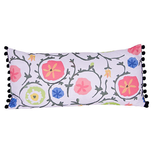 Ramoshka 12x24 Pillow, Pink/Blue