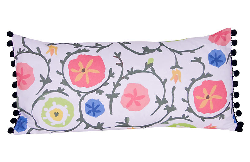 Ramoshka 12x24 Pillow, White/Multi