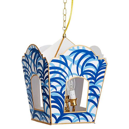 Mod Lantern, Blue Palm
