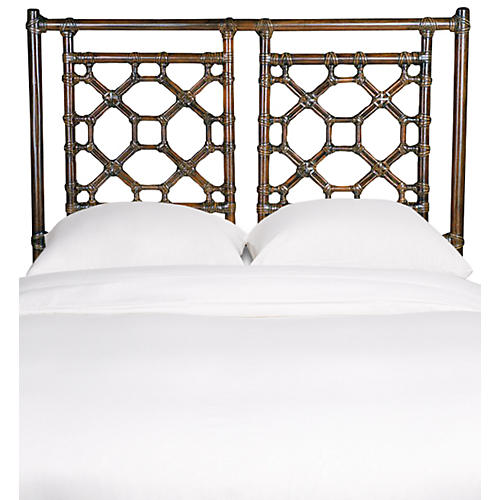 Lattice Back Kids' Headboard, Golden Mahogany