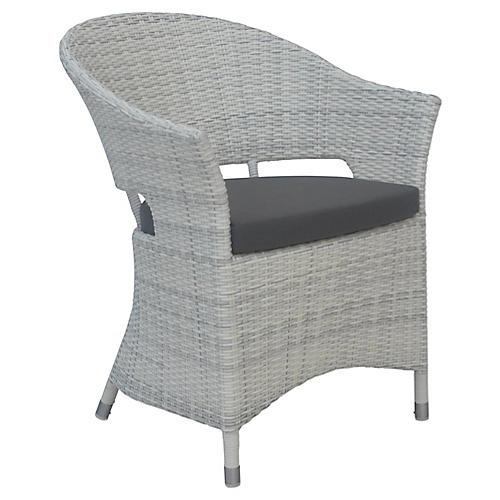 Newport Outdoor Armchair, Charcoal Sunbrella