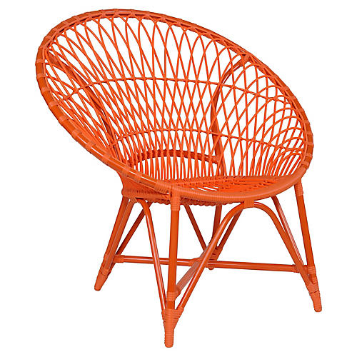 Marrakesh Outdoor Lounge Chair, Orange