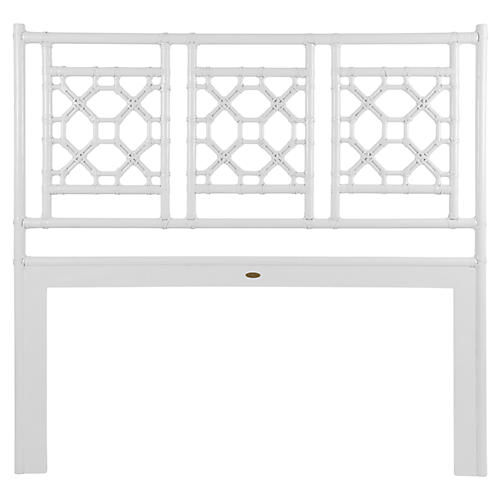 Lattice Back Headboard, White