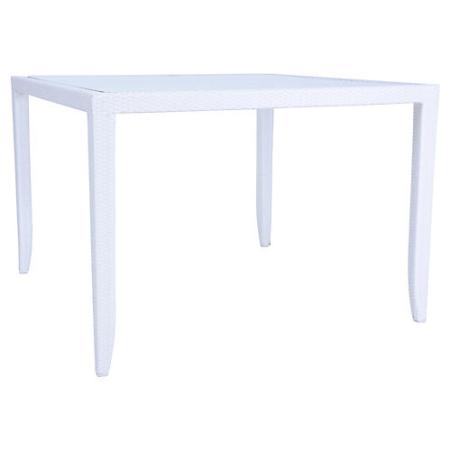 Mykonos Outdoor Dining Table, White