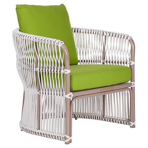 Fiji Outdoor Lounge Chair, Macaw Sunbrella