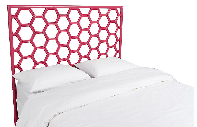 Honeycomb Headboard - Hot Pink - David Francis Furniture