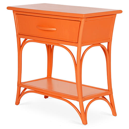 Augustine Nightstand, Citrus Orange
