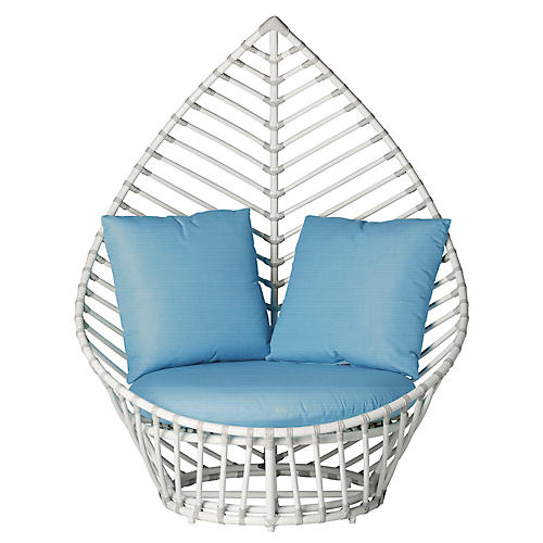 Palm Outdoor Lounge Chair, Blue
