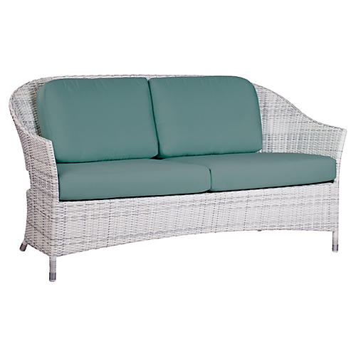 "Newport Outdoor 62"" Loveseat, Teal"