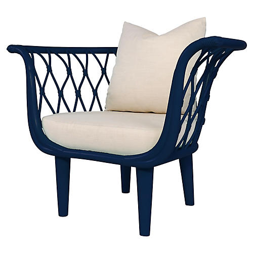 Amsterdam Accent Chair, Navy