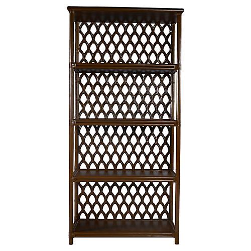 Casablanca Bookcase, Coffee Brown