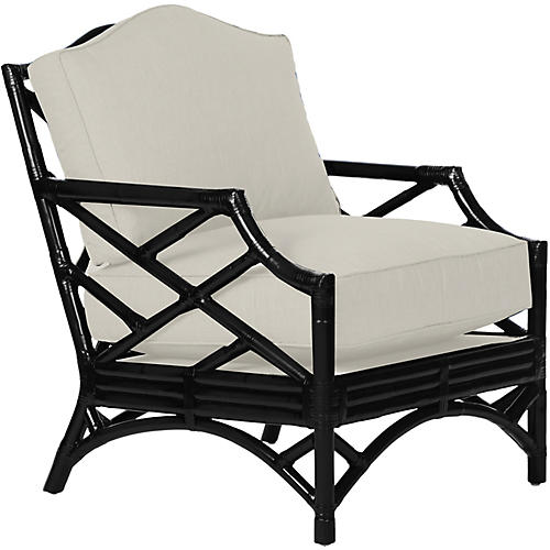 Chippendale Accent Chair, Black