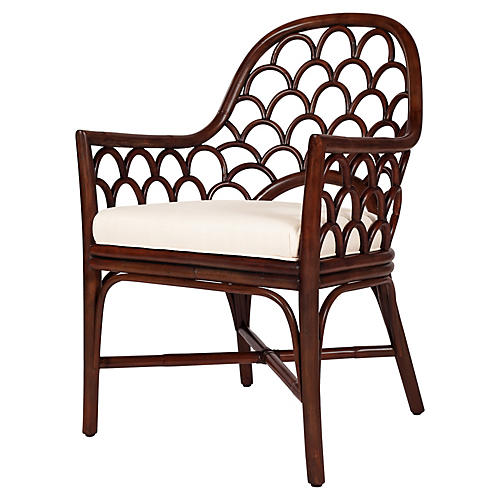 Koi Armchair, Coffee Brown
