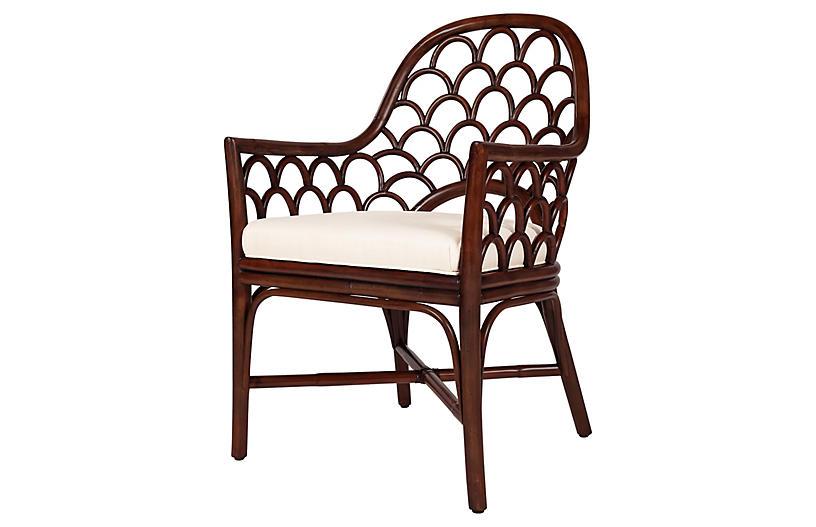 Koi Armchair, Coffee Brown
