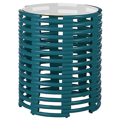 Tribeca Side Table, Pacific Blue