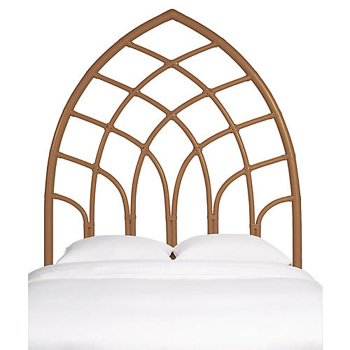 Cathedral Kids' Headboard, Camel Brown