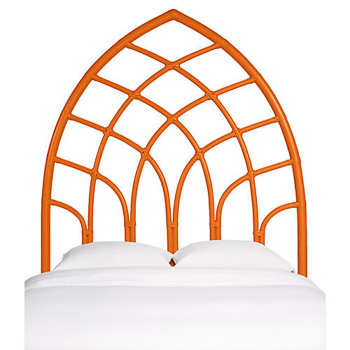 Cathedral Headboard, Citrus Orange