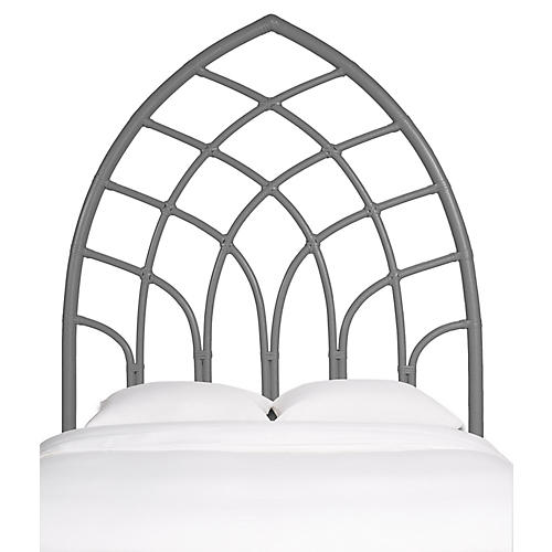 Cathedral Kids' Headboard, Steel Gray