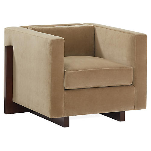 Porter Club Chair, Bronze