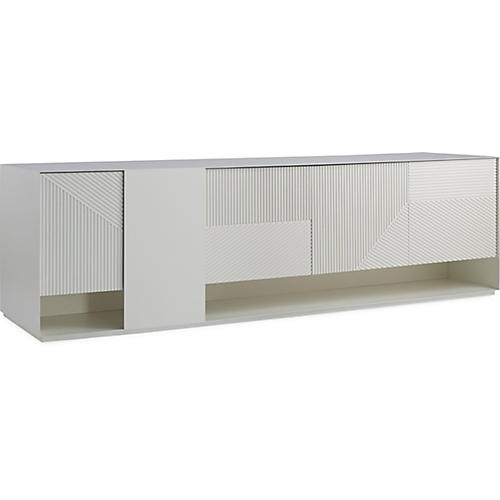 Hampden Media Console, White