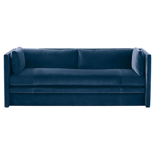 Meyer Sofa, Blue Velvet