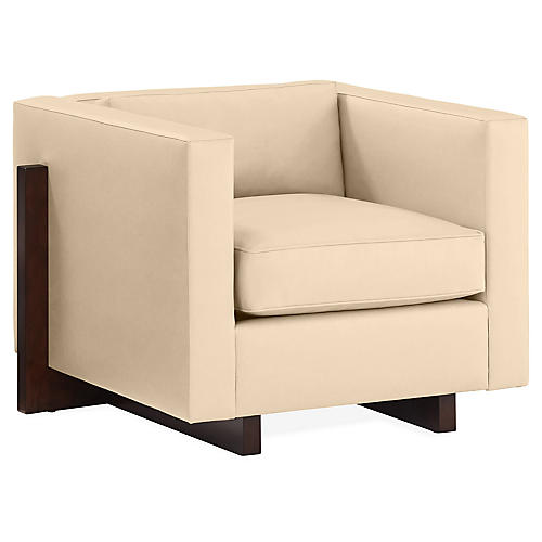 Porter Club Chair, Tan