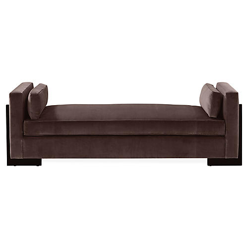 Porter Bench, Dark Bronze Velvet
