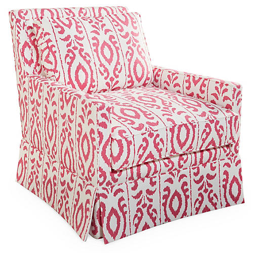 Lilla Swivel Glider Chair, Pink