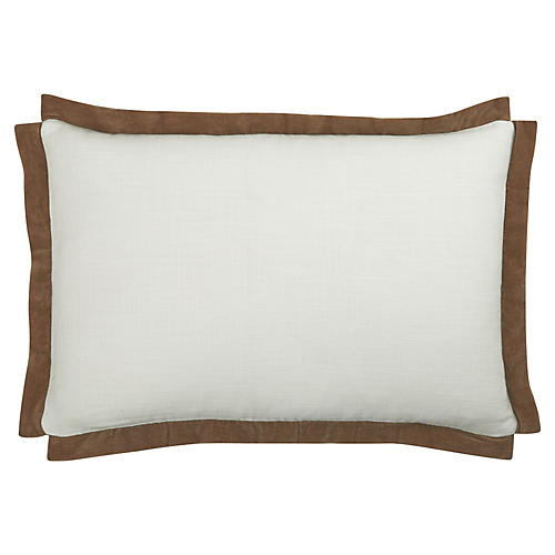 Michelle 24x16 Cotton Pillow, Toffee
