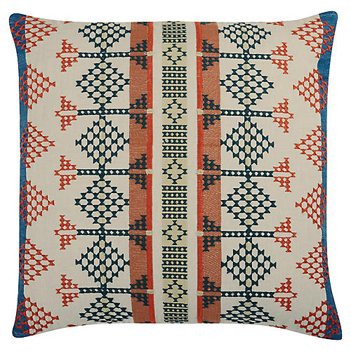 Shayne 22x22 Linen Pillow, Orange