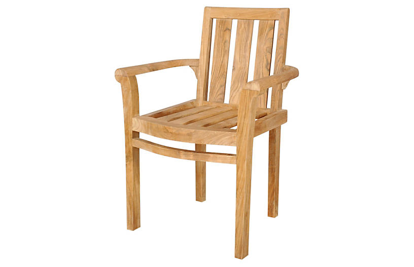 Classic Stackable Armchairs, Set of 4