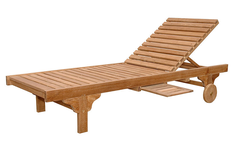Capri Sun Lounger & Side Tray