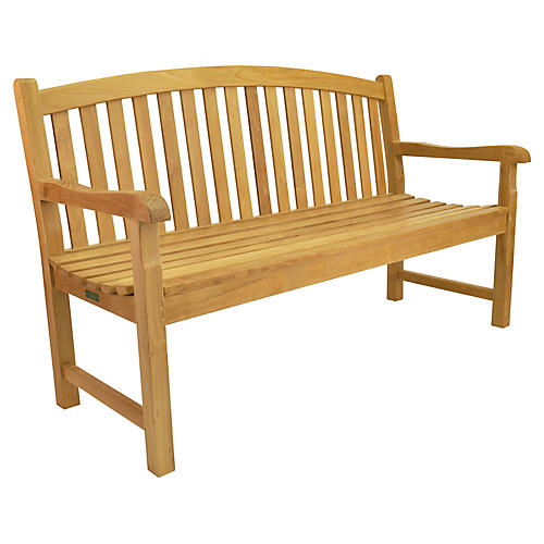 Chelsea 3-Seater Bench, Natural
