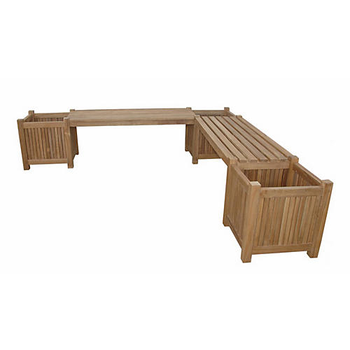 Planter Bench, Natural