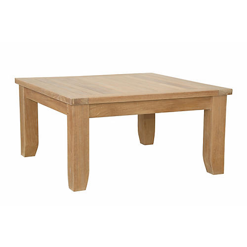 Luxe Square Coffee Table, Natural