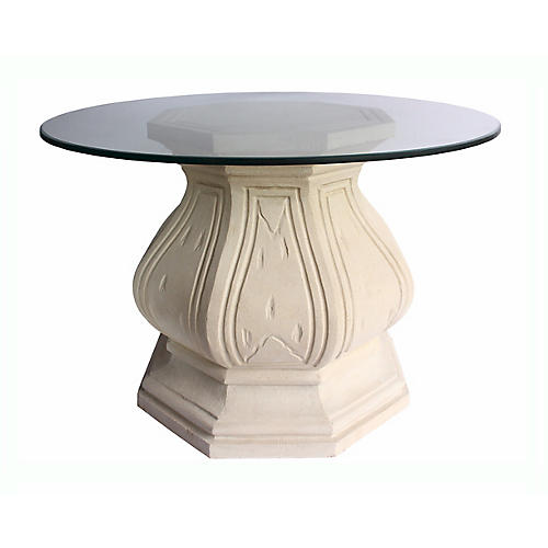 Louis XIV Octagonal Dining Table, Beige