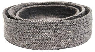 Asst. of 3 Trio of Round Baskets, Charcoal