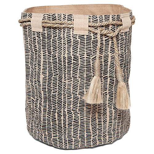 "18"" Hessian Sack, Serengeti Black"