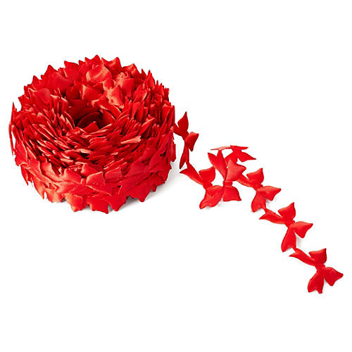 "3/4"" Satin Cut-Out Ribbon, Red"