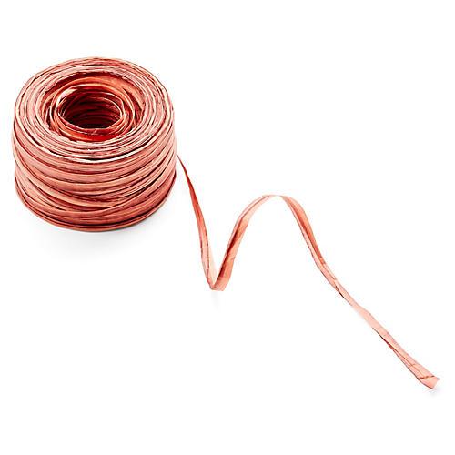 """1.5"""" Raffia Ribbon, Copper"""