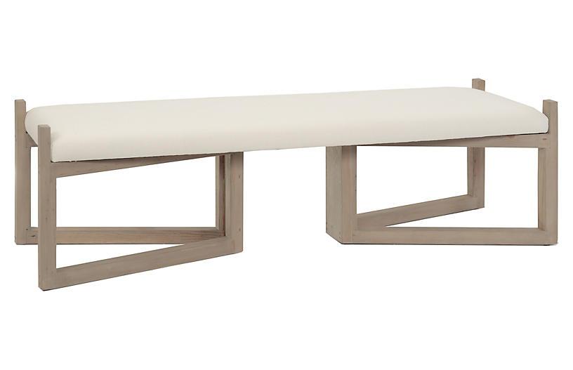 Bower Bench, Ivory Linen