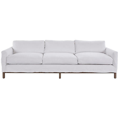 Dufton Sofa, White Linen