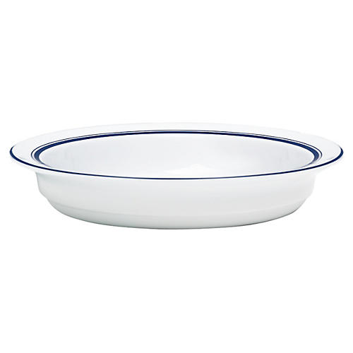 Bistro Christianshavn Soup Bowl, White/Blue