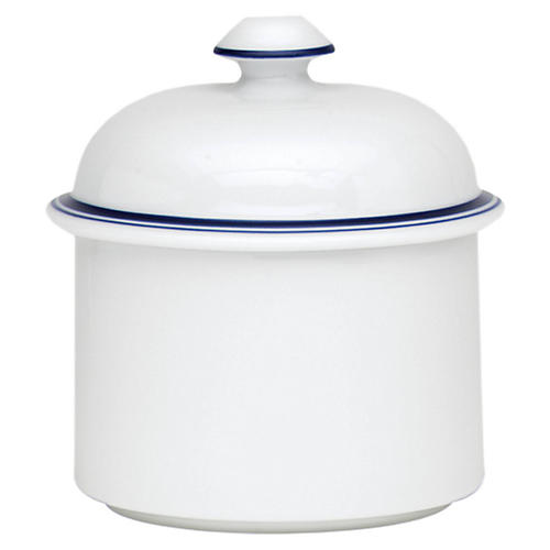 Bistro Christianshavn Sugar Bowl, White/Blue