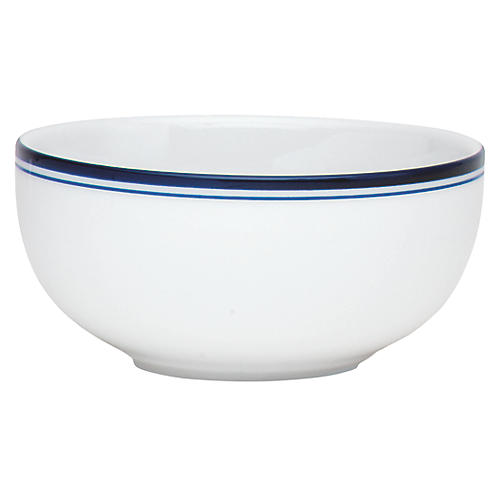 Bistro Christianshavn Fruit Bowl, White/Blue