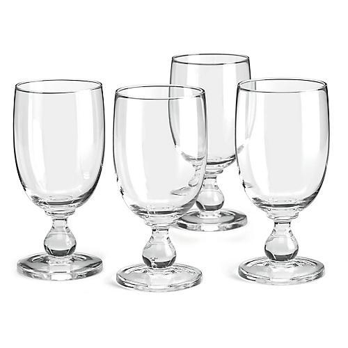 S/4 Hanna Iced Goblets, Clear