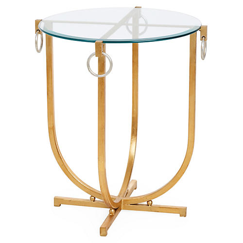 Bristol Equestrian Side Table, Gold