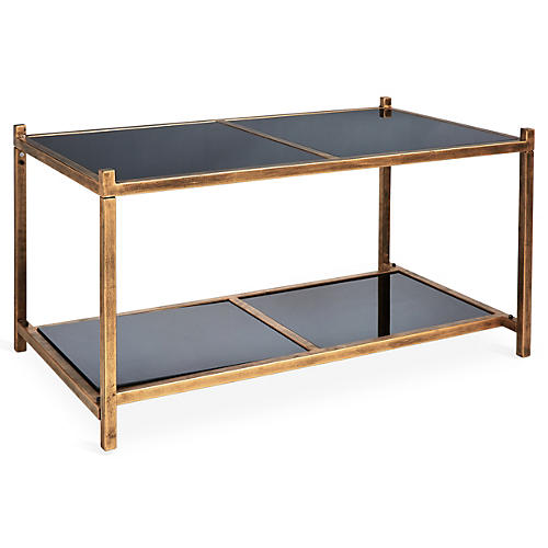 Luton Tiered Coffee Table, Brass