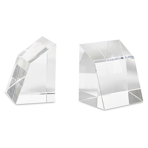 S/2 Crystal Angular Bookends